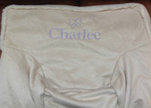 Premonogrammed Regular Size Ugly-Where Chair - Charlee  - L344 - Ivory Suede, Sherpa Trim
