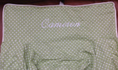 Premonogrammed Regular Size Ugly-Where Chair - Cameron  - L351 - Light Green Mini Dot