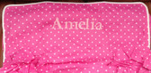 Premonogrammed Regular Size Ugly-Where Chair - Amelia - L438 - Hot Pink Pin Dot