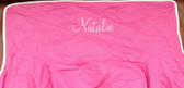 Premonogrammed Regular Size Ugly-Where Chair - Natalie - L432 - Hot Pink, White Piping