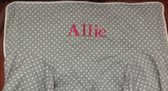 Premonogrammed Regular Size Ugly-Where Chair - Allie - L407 - Light Gray Mini Dot