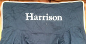 Premonogrammed Regular Size Ugly-Where Chair -  Harrison - L400 - Navy, Khaki Piping