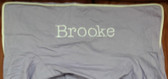 Premonogrammed Regular Size Ugly-Where Chair - Brooke - L386 - Lavender, White Piping