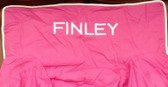 Premonogrammed Regular Size Ugly-Where Chair - Finley - L364 - Hot Pink, White Piping