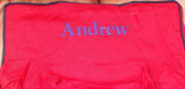 Premonogrammed Regular Size Ugly-Where Chair - Andrew - L589 - Red, Navy Piping
