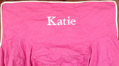 Premonogrammed Regular Size Ugly-Where Chair - Katie -  L540 - Hot Pink, White Piping