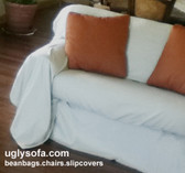 Separate Seat Dropcloth Sofa Slipcover - Cotton/Linen