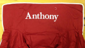 Premonogrammed Regular Size Ugly-Where Chair - Anthony - L1241 - Red, White Piping