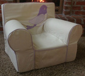 Ugly-Where Chair Slipcover - Regular Size - Free Personalization - Birdie, Lavender Linen