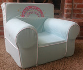 Ugly-Where Chair Slipcover - Regular Size - Free Personalization - Aqua Rainbow