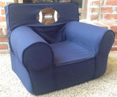 Ugly-Where Chair Slipcover - Regular Size - Free Personalization - Navy Football Applique