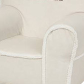 Ugly-Where Chair Slipcover - Regular Size - Free Personalization - Ivory Suede, Sherpa Trim
