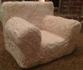 Ugly-Where Chair Slipcover - Regular Size - Free Personalization - Ivory Fur