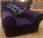 Ugly-Where Chair Slipcover - Regular Size - Free Personalization -  Tyrannosaurus Rex Navy