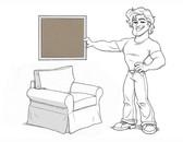 Basic Arm Chair Slipcover Set - Walnut Brushed Canvas - locstg