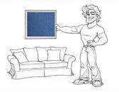"Charleston 96"" Grand Sofa Slipcover Set - Blue Denim - locl102"