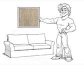 Pottery Barn Comfort Sofa Slipcover Set - Box Edge Cushions - Oatmeal Slubby Basketweave - locl03
