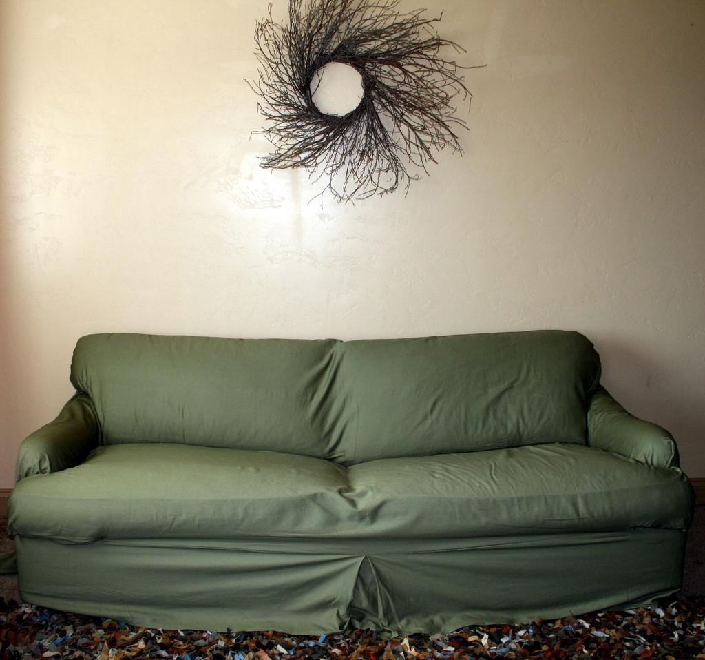 Loosefit T Cushion Tailored Slipcover Small Sofa