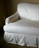 Loosefit T Cushion Boxpleat Slipcover Arm Chair