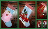 Recession Christmas Stockings - Quilted - Free Personalization