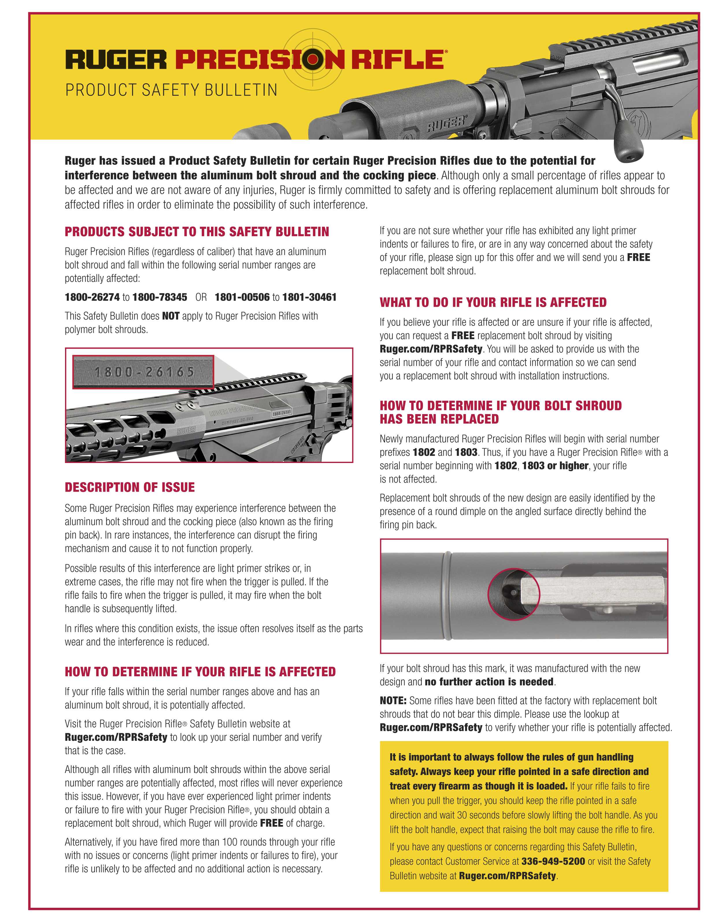Ruger Safety Bulletin
