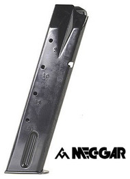 This is a Taurus pt 92/99 9mm 20 round magazine, made by MEC-GAR.