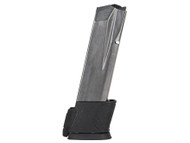 This is a 14 round extended factory magazine with a black sleeve for the Smith & Wesson M+P 45ACP.