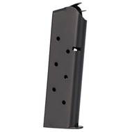 This is a 8 round magazine for any full-size 1911, made by MEC-GAR.