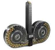 This is a 100 round drum for the Glock 9mm (fits models 17, 19, 26), made by The Beta Company.