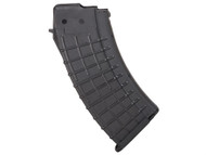 This is a 20 round black polymer AK-47 magazine 7.62 x 39mm, made by ProMag.