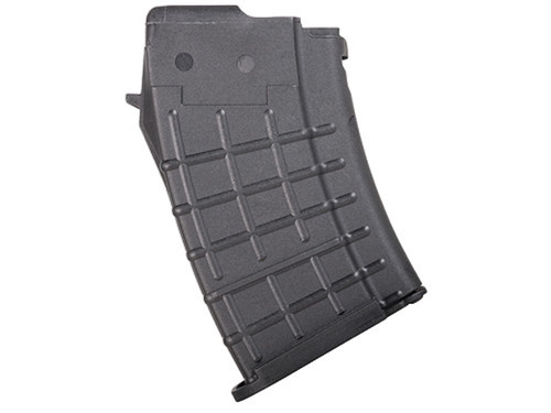 This is a 10 round black polymer AK-47 magazine 7.62 x 39mm, made by ProMag.