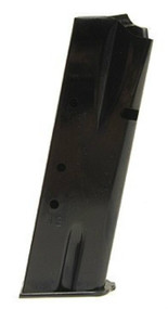 This is a Browning magazine for the Hi-Power 9mm, maximum capacity of 13 rounds, manufactured by MEC-GAR.