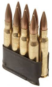This is a M1 Garand En Bloc clip, with a capacity of 8 rounds, USED.