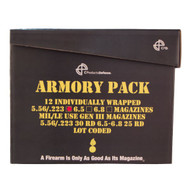 This is a (12) pack of 30 round aluminum AR-15 magazines .223 / 5.56 with an upgraded anti-tilt follower, manufactured by C-Products.
