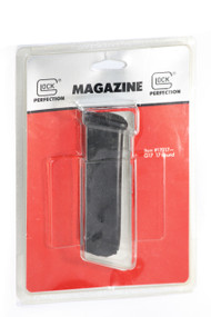 "This is a factory Glock magazine for the G17 9mm (will also fit models 19 and 26), 17 round capacity. This magazine is a 1st generation magazine and is sometimes referred to as the ""U"" lip magazine because the feeding lips are formed in a ""U"" shape."
