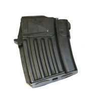 This is a AK-47 single stack magazine for the WASR-10 7.62x39mm , 5 round capacity, manufactured in Romania, USED.