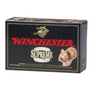"Winchester Supreme 20 gauge, 2 3/4"" shell loaded with 5 lead shot (1 oz.), 25 rounds per box, manufactured by Olin under the Winchester trademark."