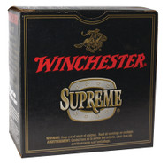 "Winchester Supreme Double X Magnum Extra Long Range 12 gauge, 3"" shell loaded with #4 copper-plated lead shot (1 7/8 oz.), 25 rounds per box, manufactured by Olin under the Winchester trademark."