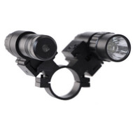 """This Laser / Light Combo that can be installed on any 1"""" barrel. On the 1 inch mount there are two offset picatinny adaptors for you to connect accessories."""