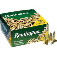 Remington Golden Bullet .22 long rifle 36 Grain Lead Round Nose Hollow Point, has 525 rounds per pack, manufactured by Remington.