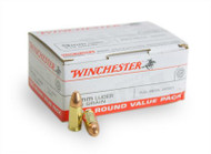This is a new box of Winchester ammunition in the 9mm caliber. They have 115 grain FMJ bullets and come 100 rounds per box.