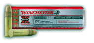 Winchester Super-X .22 long rifle 40 Grain Copper-Plated Lead Round Nose, has 100 rounds per box, manufactured by Winchester.