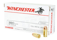This is a new box of Winchester ammunition in the .380 acp caliber. They have 95 grain FMJ bullets and come 50 rounds per box.