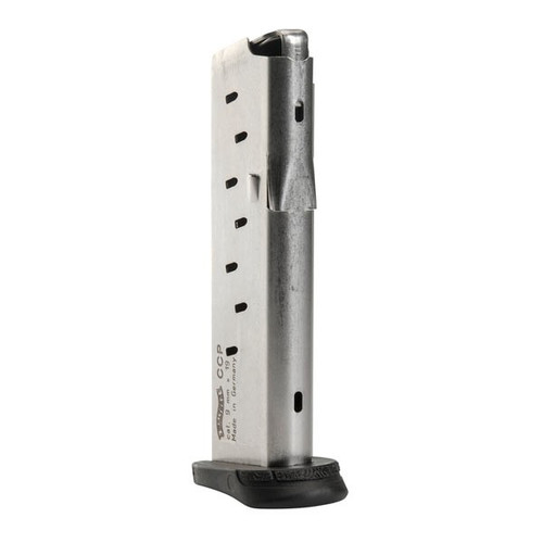 This is a factory Walther magazine for the CCP 9mm, 8 round capacity.