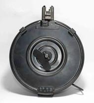 This is AK-47 drum 7.62 x 39mm, 75 round capacity, original Chinese Wind-Up Drum. Closed