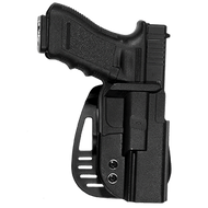 This is an Uncle Mike's holster for the Glock pistols. It will fit models 17, 19, 22, 23 and is made from impact resistant Kydex.