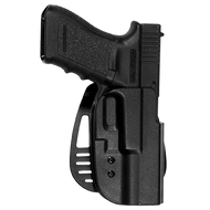 This is an Uncle Mike's holster for the Glock pistols. It will fit models 20, 21 and is made from impact resistant Kydex.