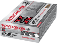 This is a box of Winchester Super-X ammunition for the .30-06 springfield caliber with a 165 grain projectile, 20 rounds/box.