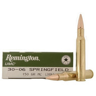 This is a box of Remington UMC ammunition for the .30-06 springfield caliber with a 150 grain projectile, 20 rounds/box.