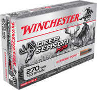 This is a new box of Winchester Deer Season XP ammunition in the .270 win caliber. They have 130 grain Extreme Point projectiles and come 20 rounds per box.